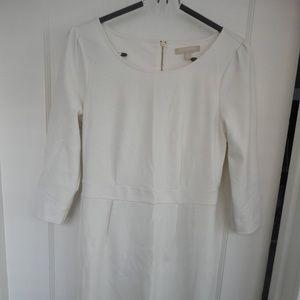 Cream long-sleeved Banana Republic dress